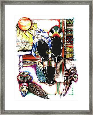 Back To Basic Framed Print by Anthony Burks Sr