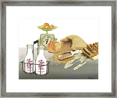 Framed Print featuring the painting Back To Basics by Ferrel Cordle