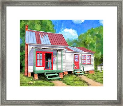 Framed Print featuring the painting Back To Grandmother's Cottage by Mark Tisdale