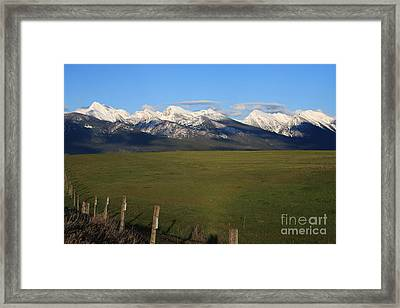 Back To Mission Mountains Framed Print