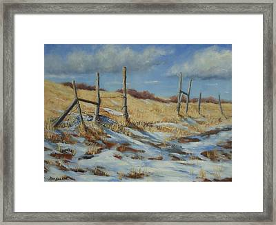 Back To Open Range Framed Print by Debra Mickelson