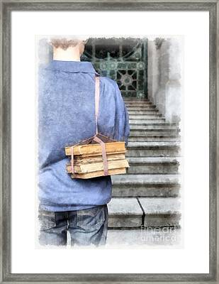 Back To School Watercolor Framed Print