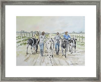 Back To The Barn Framed Print by Alice Brunner