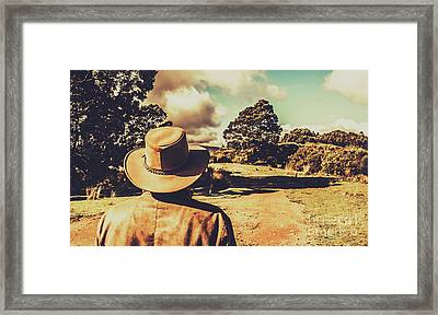 Back To The Countryside Framed Print