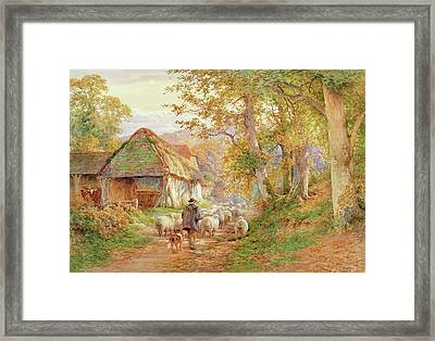 Back To The Fold Framed Print by Charles James Adams