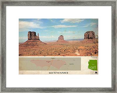 Back To The Future 3 Location, Doc Brown Western Framed Print by Pablo Franchi