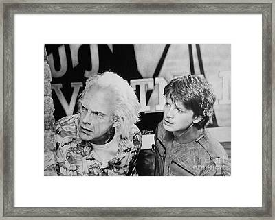 Back To The Future Framed Print by Silvia Schmitt