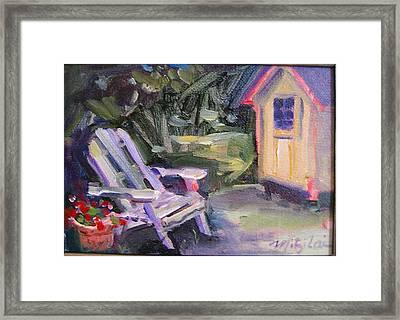 Back Yard Framed Print by Mitzi Lai