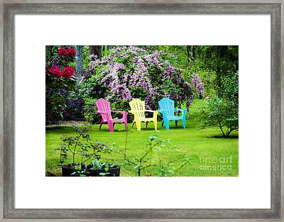Back Yard Tranquility Framed Print by Jim  Calarese