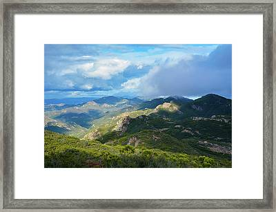 Backbone Trail Santa Monica Mountains Framed Print