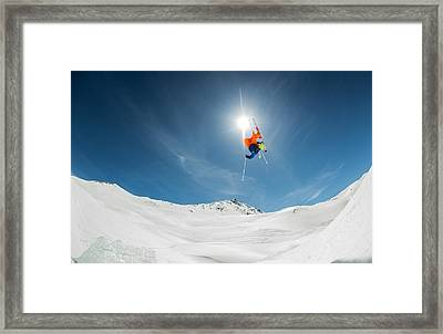 Backcountry Kicker Locals Only Framed Print by Eric Verbiest