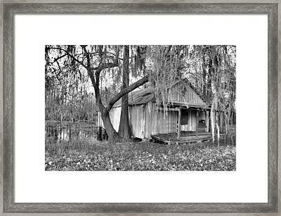 Backdoor Fishing Framed Print