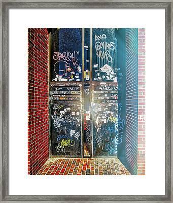 Backdoor Philosophy  Framed Print