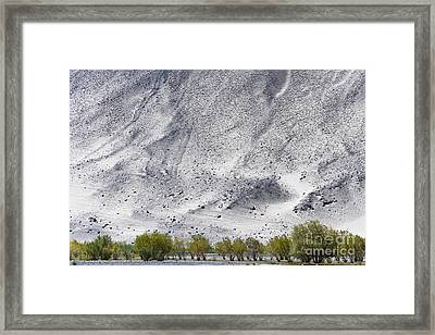 Backdrop Of Sand, Chumathang, 2006 Framed Print