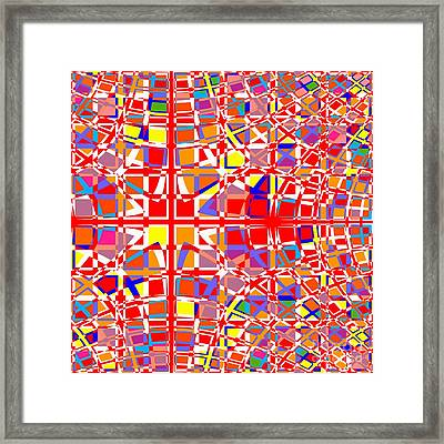 Background Choice Squares Framed Print