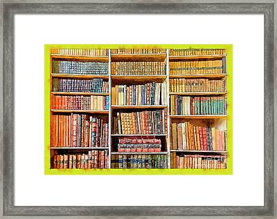 Framed Print featuring the digital art Background From Old Books by Ariadna De Raadt