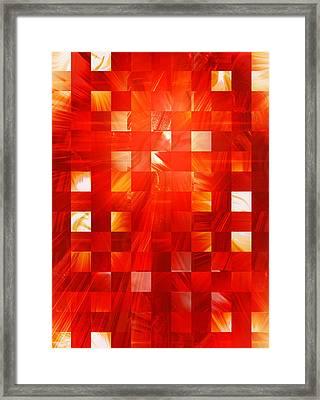 Background Heat Framed Print