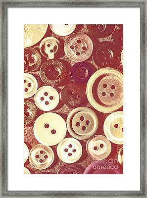 Background On A Button Collector Framed Print by Jorgo Photography - Wall Art Gallery