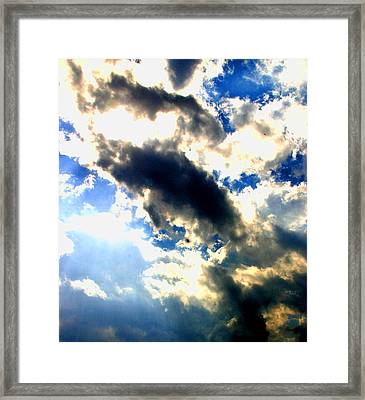 Backlit  Clouds Framed Print