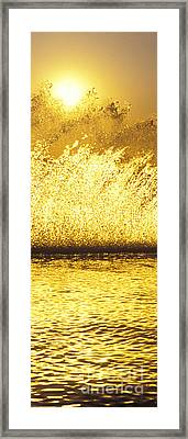 Backlit Waterskier  -  Part 2 Of 3 Framed Print by Sean Davey