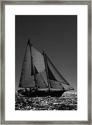 Backlite Schooner Framed Print