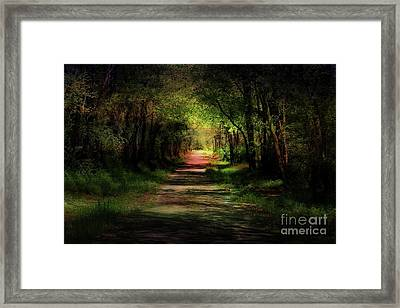 Backroad Goodbye Framed Print