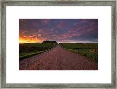Backroad To Heaven  Framed Print by Aaron J Groen