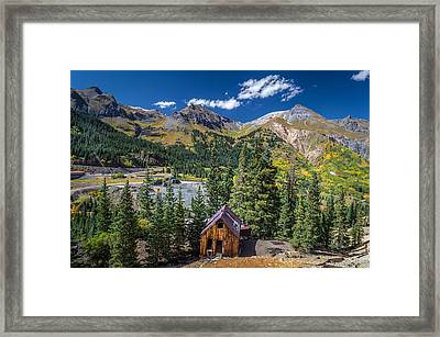 Backroads In San Juan Mountains Framed Print