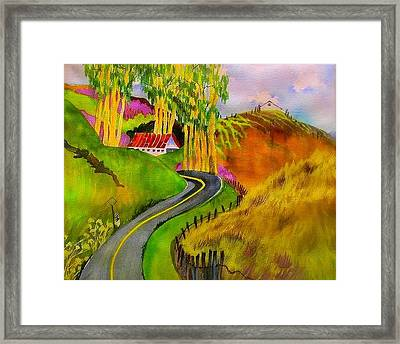 Backroads Sonoma County  Framed Print