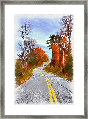 Backroads Vermont Framed Print