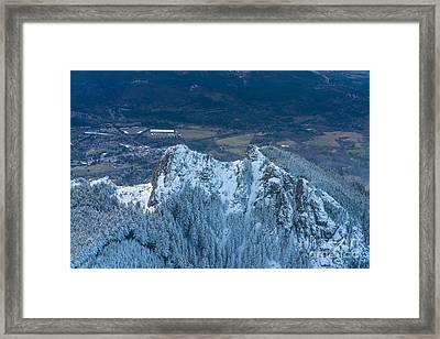 Backside Of Mount Si Framed Print