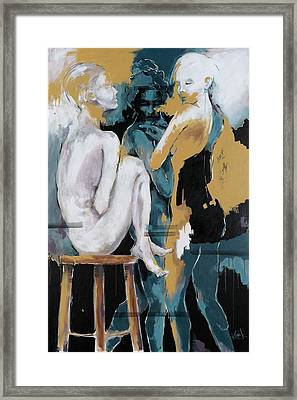 Backstage - Beauties Sharing Secrets Framed Print