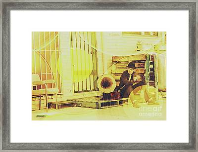 Backstreet Tunes Framed Print by Jorgo Photography - Wall Art Gallery