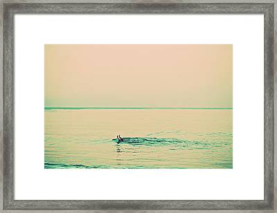 Backstroke Framed Print