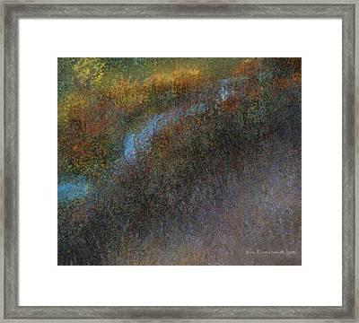 Backwater Abstract Framed Print