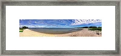 Backwater Bay Pano Framed Print