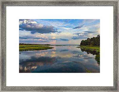Backwater Sunset Framed Print