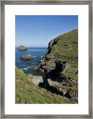 Backways Cove Near Trebarwith Framed Print by Pete Hemington