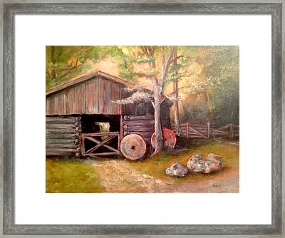 Backwoods Barn Framed Print