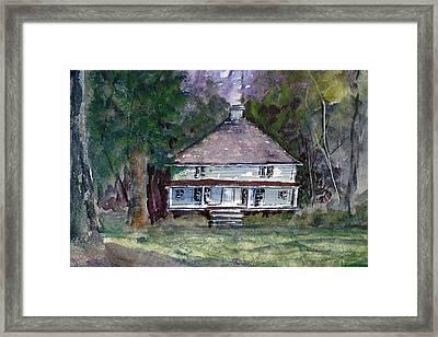 Backwoods Cottage - Watercolor Landscape Framed Print by Barry Jones