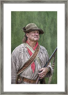 Backwoodsman Hunter Portrait  Framed Print