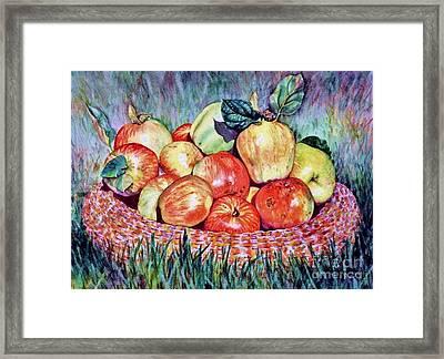 Backyard Apples Framed Print