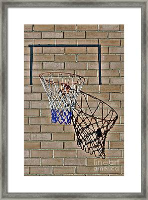 Framed Print featuring the photograph Backyard Basketball by Stephen Mitchell