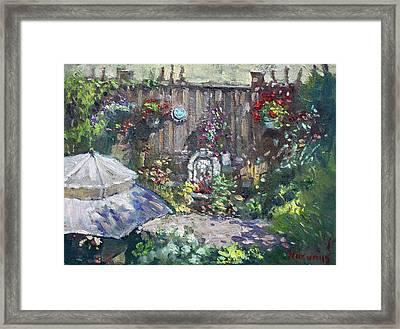 Backyard Flowers  Framed Print by Ylli Haruni