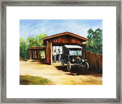 Backyard Mechanics Framed Print
