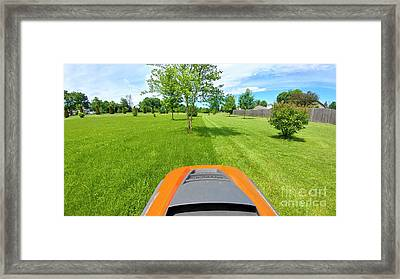 Framed Print featuring the photograph Backyard Mowing by Ricky L Jones