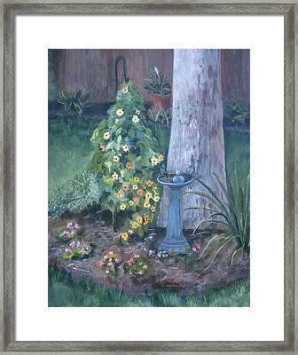 Backyard Framed Print by Paula Pagliughi