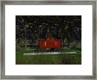 Backyard Playhouse Framed Print by Michael Wimer