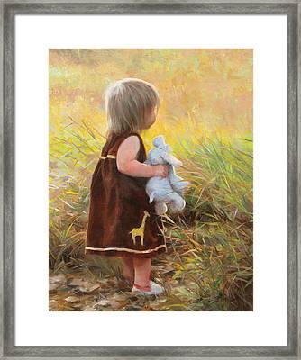 Backyard Safari Framed Print by Anna Rose Bain