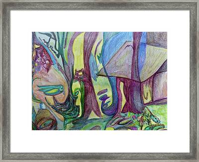 Backyard Spring Framed Print